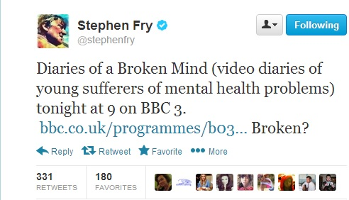 Stephen Fry's reaction to the emotive title.
