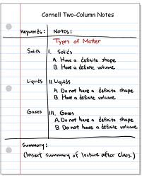 Cornell Note System